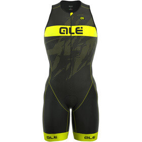 Alé Cycling Triathlon Long Record Tri Body Men Front Zipper black-fluo yellow
